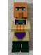 Minifig No: min076  Name: Villager (Blacksmith) - Tan Top with Purple Apron