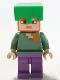 Minifig No: min089  Name: Alex - Bright Green Helmet, Medium Lavender Legs