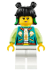 Minifig No: mk013  Name: Mei - Dark Turquoise Jacket