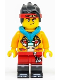 Minifig No: mk038  Name: Monkie Kid - Bright Light Orange Jacket, Dark Turquoise Hood (Smirk / Angry)