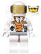 Minifig No: mm003  Name: Mars Mission Astronaut with Helmet and Messy Hair and Stubble