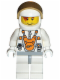 Minifig No: mm008  Name: Mars Mission Astronaut with Helmet and Red-Brown Hair over Eye and Stubble