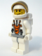 Minifig No: mm014  Name: Mars Mission Astronaut with Helmet and Cheek Lines and Backpack