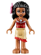 Minifig No: moa002  Name: Moana - Tan Skirt, Bright Pink Flower