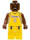 Minifig No: nba001  Name: NBA Kobe Bryant, Los Angeles Lakers #8 (Home Uniform)