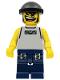 Minifig No: nba032  Name: Basketball Street Player, Light Gray Torso and Dark Blue Legs