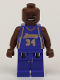 Minifig No: nba034  Name: NBA Shaquille O'Neal, Los Angeles Lakers #34 (Road Uniform)
