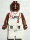 Minifig No: nba037  Name: NBA Allen Iverson, Philadelphia 76ers #3 (White Uniform)