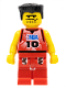 Minifig No: nba045  Name: NBA player, Number 10 with Red Legs