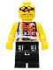 Minifig No: nba055  Name: Basketball Street Player, Tan Torso and black Legs #2