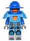 Minifig No: nex038  Name: Nexo Knight Soldier - Dark Azure Armor, Blue Helmet with Broad Brim