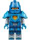Minifig No: nex039b  Name: Nexo Knight Soldier - Dark Azure Armor, Blue Helmet with Eye Slit, Dark Azure Hands