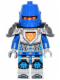 Minifig No: nex040  Name: Nexo Knight Soldier - Flat Silver Armor, Blue Helmet with Eye Slit