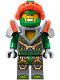 Minifig No: nex068  Name: Aaron - Trans-Neon Orange Visor