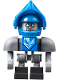 Minifig No: nex090  Name: Clay Bot - Dark Bluish Gray Shoulders and Blue Helmet