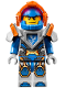Minifig No: nex093  Name: Clay, Trans-Neon Orange Visor