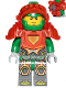Minifig No: nex115  Name: Aaron - Trans Neon Orange Armor and Visor, Towball on Back