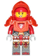Minifig No: nex119  Name: Macy - Trans Neon Orange Armor and Visor