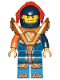 Minifig No: nex140  Name: Clay - Trans-Orange Visor, Armor