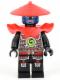 Minifig No: njo077  Name: Swordsman - Blue Face Markings