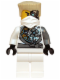 Minifig No: njo085  Name: Zane (Techno Robe) - Rebooted, Battle Damage