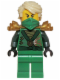 Minifig No: njo087  Name: Lloyd (Techno Robe) - Rebooted, Pearl Gold Shoulder Armor