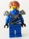 Minifig No: njo103  Name: Jay (Techno Robe) - Rebooted, Flat Silver Shoulder Armor