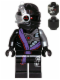 Minifig No: njo109  Name: Nindroid Warrior with Head Pattern Only on Front