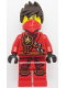 Minifig No: njo187  Name: Kai - Tournament of Elements, Scabbard, Tousled Hair