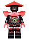 Minifig No: njo222  Name: Swordsman - Dark Red Markings