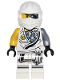 Minifig No: njo228  Name: Zane (Tournament Robe) - Tournament of Elements, Battle Damage