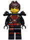 Minifig No: njo261  Name: Kai (Deepstone Armor) - Possession, Hair