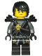 Minifig No: njo297  Name: Cole (Honor Robe) - Day of the Departed, Hair and Black Shoulder Armor