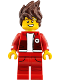 Minifig No: njo327  Name: Kai - The LEGO Ninjago Movie, Hair, Red Legs and Jacket, Bandage on Forehead