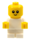 Minifig No: njo446  Name: Baby - White Body with Yellow Hands, Head with Neck