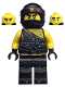 Minifig No: njo460  Name: Cole - Hunted, Orange Asian Symbol on Bandana