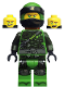 Minifig No: njo481  Name: Lloyd - Hunted, Green Wrap and Neck Bracket