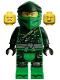 Minifig No: njo597  Name: Lloyd - Hunted Robe, Green Wrap Type 4