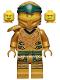 Minifig No: njo654  Name: Lloyd (Golden Ninja), Right Shoulder Armor, Yellow Head - Legacy