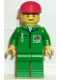 Minifig No: oct001  Name: Octan - Green Jacket with Pen, Green Legs, Red Cap