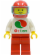Minifig No: oct011  Name: Octan - White Logo, Red Legs, Red Helmet, Trans-Light Blue Visor