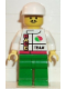 Minifig No: oct015  Name: Octan - Race Team, Green Legs, White Cap