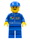 Minifig No: oct016  Name: Octan - Blue Oil, Blue Legs, Blue Cap
