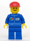 Minifig No: oct017  Name: Octan - Blue Oil, Blue Legs, Red Cap