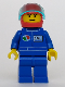 Minifig No: oct018  Name: Octan - Blue Oil, Blue Legs, Red Helmet, Trans-Light Blue Visor