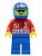 Minifig No: oct027  Name: Octan - Racing, Blue Legs, Blue Helmet 4 Stars & Stripes, Trans-Light Blue Visor
