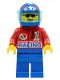 Minifig No: oct027  Name: Octan - Racing, Blue Legs, Blue Helmet 4 Stars & Stripes, Trans-Light Blue Visor