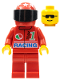Minifig No: oct029  Name: Octan - Racing, Red Legs, Red Helmet 7 White Stars, Black Visor