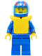 Minifig No: oct037a  Name: Octan - Blue Oil, Blue Legs, Life Jacket, Blue Helmet 4 Stars & Stripes, Trans-Light Blue Visor