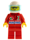 Minifig No: oct040  Name: Octan - Racing, Red Legs, White Helmet, Trans-Light Blue Visor